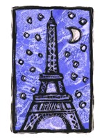 Eiffel Tower Moon Fine Art Print
