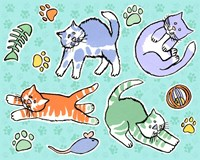 Fun Kitties Pawprints Fine Art Print