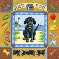 Good Dog Black Lab Fine Art Print