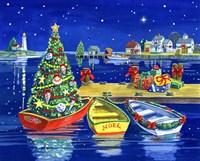 Christmas Dock Fine Art Print