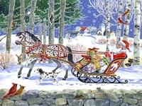 Santa's Sleigh Ride Fine Art Print