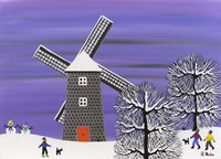 Winter Windmill Fine Art Print