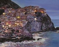 Manarola at Dusk Fine Art Print