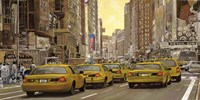 Taxi a New York Fine Art Print