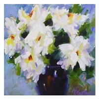 White Peony Bouquet Fine Art Print
