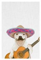 Dog Guitarist Fine Art Print