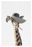 Giraffe Dressed in a Hat Fine Art Print