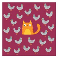 Cat amongst the Pigeons Fine Art Print