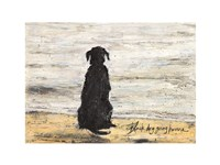 Black Dog Going Home Fine Art Print