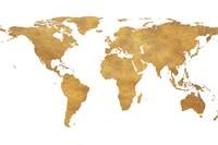 Gold World Map (gold foil) Fine Art Print