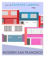 Modern Painted Ladies Fine Art Print