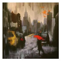 A Rainy Day Walker Fine Art Print