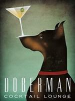 Doberman Martini Fine Art Print
