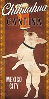 White Chihuahua on Red Fine Art Print