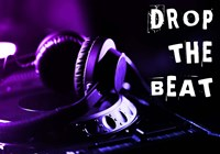 Drop The Beat - Purple and Blue Fine Art Print