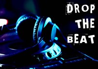 Drop The Beat - Navy and Cyan Fine Art Print