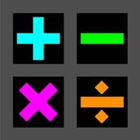 Math Symbols Square - Colorful Symbols Fine Art Print