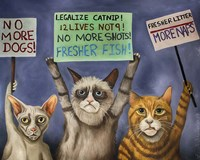Cats On Strike Fine Art Print