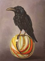 Crow On A Marble Fine Art Print