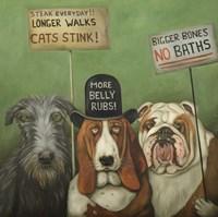 Dogs On Strike Fine Art Print