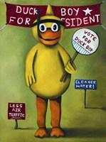 Duck Boy 2 Fine Art Print