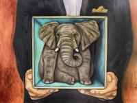 Elephant In A Box Fine Art Print