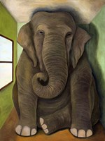 Elephant In A Room Cracks Fine Art Print