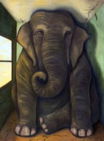 Elephant In The Room Fine Art Print