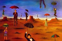 Spirit Of The Flying Umbrella 2 Fine Art Print