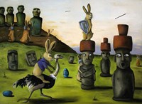 Battle Over Easter Island Fine Art Print