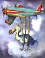 Lazy Bird W Dodo Fine Art Print