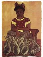 Vendedora de Pinas Fine Art Print
