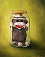 Preserving Childhood Baby Sock Monkey Fine Art Print
