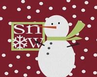 Snow Snowman Painted Fine Art Print