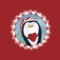 Christmas Critters Penguin Fine Art Print