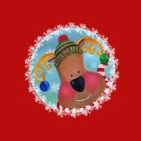 Christmas Critters Reindeer Fine Art Print