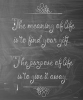 Meaning Of Life Chalk Fine Art Print