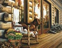 The Back Porch Rocker Fine Art Print