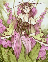 Foxglove Fae Fine Art Print