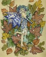 Winter Leaf Fairy Fine Art Print