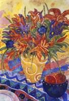 Tiger Lilies & Irises Fine Art Print