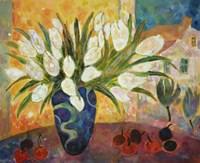 Tulips And Cherries Fine Art Print