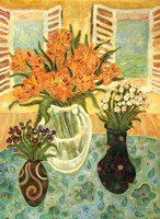 Flowers On A Table Fine Art Print