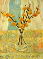 Orange Blossom On A Lemon Cloth Fine Art Print