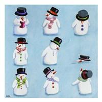 Snowmen Fine Art Print