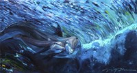 All My Waves Mother and Baby Bottlenose Dolphin Fine Art Print