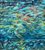 Kemps Ridley Turtle Hidden Treasure Fine Art Print