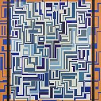 Orange & Blue Fine Art Print