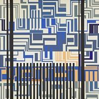 Gray & Blue Fine Art Print