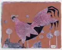 Sci-fi Purple Rooster 6 Fine Art Print